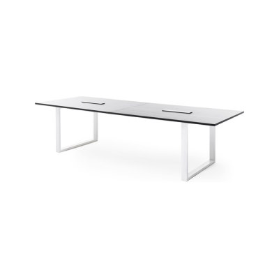 Frankie conference table with sled base E by Martela Oyj
