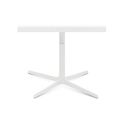 Fred | H 50 by Arper White powdercoated base, MDF MD cm 60x60 Top