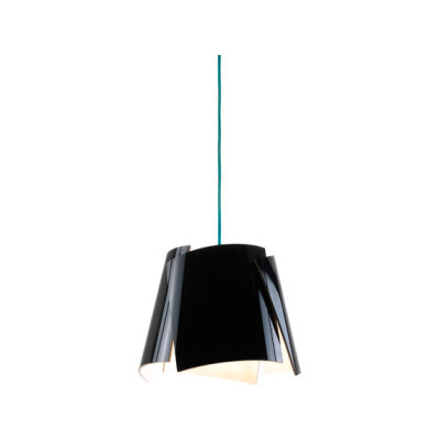 Leaf 28 pendant black/ green cable by Bsweden