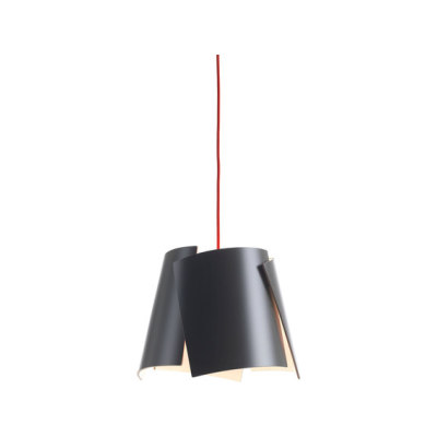 Leaf 28 pendant grey/ red cable by Bsweden