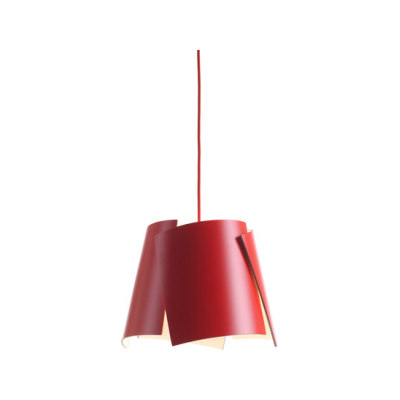Leaf 28 pendant red/ red cable by Bsweden