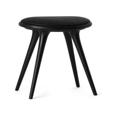 Low Stool black stained hardwood 47 by Mater