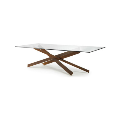 Mikado 72 by Reflex Corten finish base, 200x100x72 cm