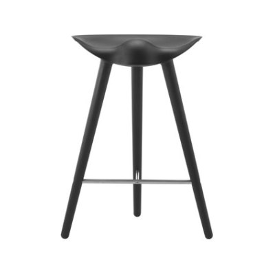 ML 42 counter stool beech bl, stained beech / stainless steel