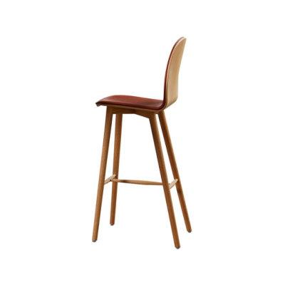 Nam Nam Wood Bar Stool upholstered by 8000C