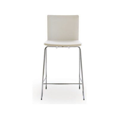 Nex barstool by Poliform plastic bianco 01