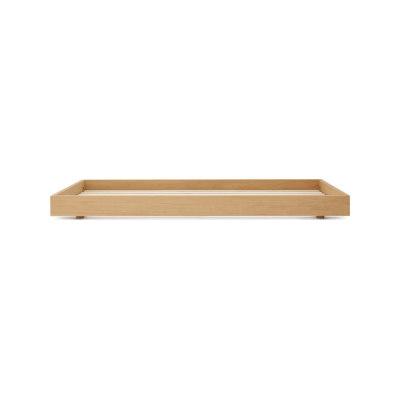 Oak bed single by Bautier
