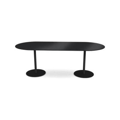 Odette Table 210 x 90 x 72 cm Black - Laminate