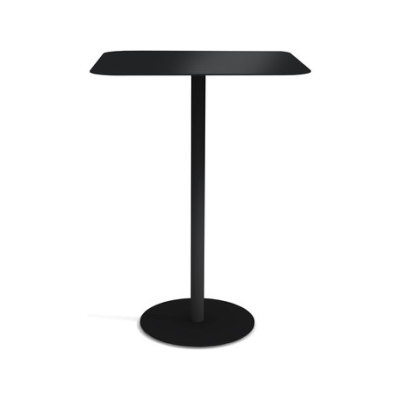 Odette Table 70 x 70 x 100 cm Black - Metal