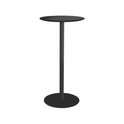 Odette Table Ø:50 H:100 cm Black - Laminate