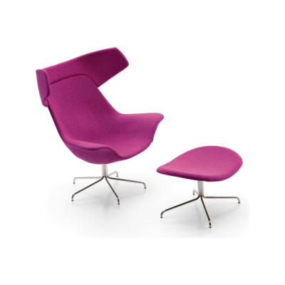 Oyster easy chair/footstool by OFFECCT