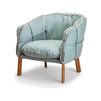 Parchment Easy Armchair by Kenneth Cobonpue