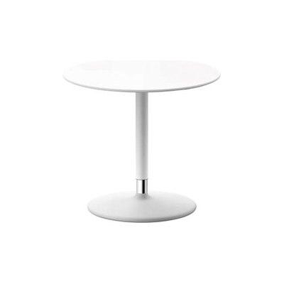 Pix Table by Arper White Base, MDF Ø cm 50 White Top