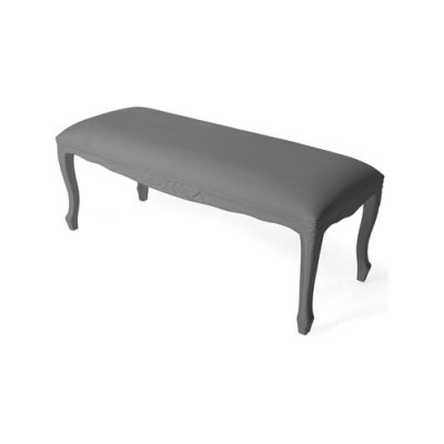 Plastic Fantastic large bench antracite by JSPR