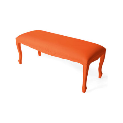 Plastic Fantastic large bench orange by JSPR