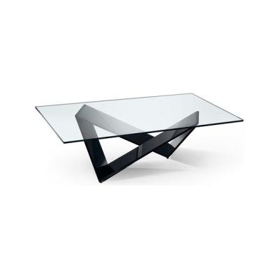 Prisma 40 by Reflex Black lacquered base, 106x106x42 cm