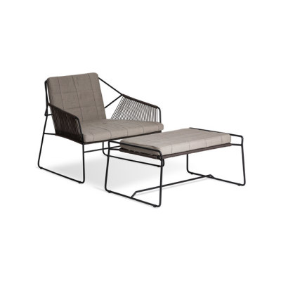 Sandur Club Chair Full Woven | Sandur Foot Stool by Oasiq
