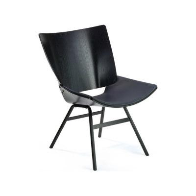 Shell Lounge Leather Seat by Rex Kralj