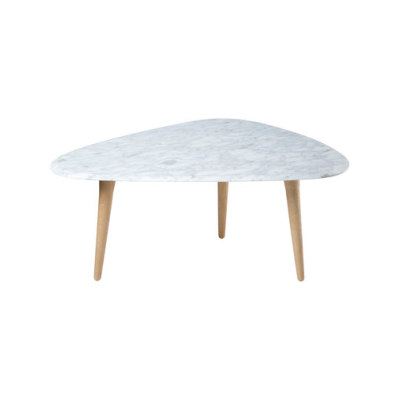 Small Coffee Table Marble Top by Red Edition