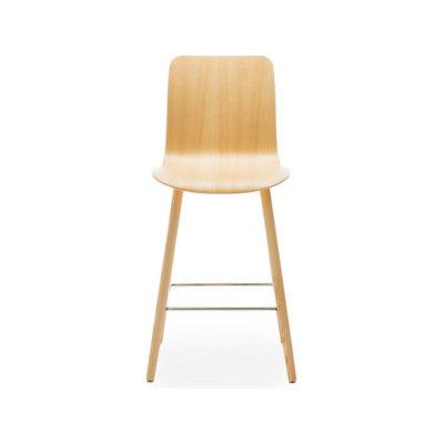 Sola barstool wooden base & backrest by Martela Oyj