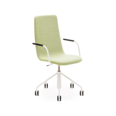 Sola conf chair with swivel base with castors and height adjustment by Martela Oyj