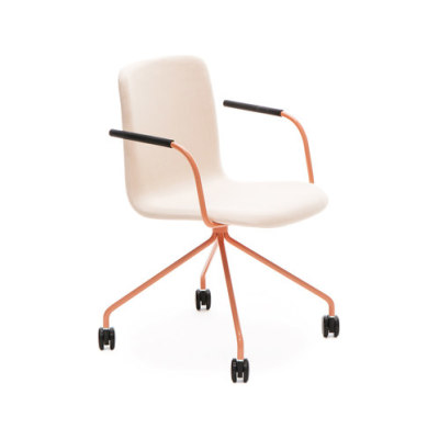 Sola conference chair with four leg base with castors by Martela Oyj