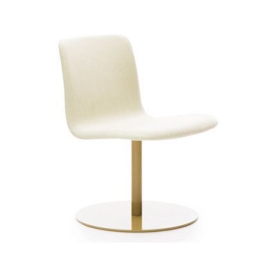 Sola lounge chair with swivel disc base by Martela Oyj
