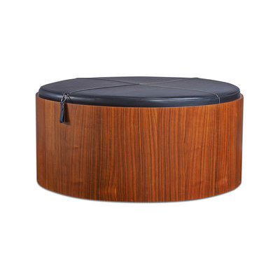 Stoll 90 – Walnut Stained with black calf leather cushion by Wildspirit