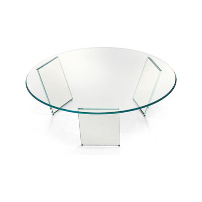 Tango Round Coffee Table Clear Legs, Diameter 120 cm