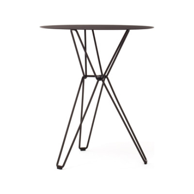 Tio Circular Café Table Metal Ø:60 H:72 cm Black - Metal