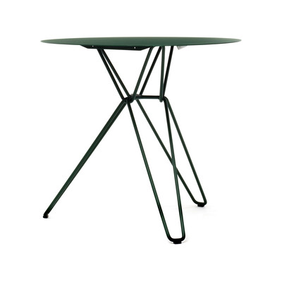 Tio Circular Café Table Metal Ø:75 H:72 cm Blue Green - Metal