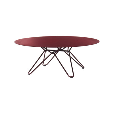 Tio Circular Coffee Table Metal Ø:100 H:38 cm Wine Red - Metal
