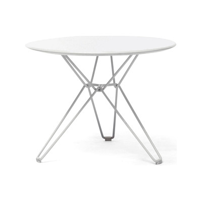 Tio Circular Low Table Laminate Ø:60 H:42 cm White - Laminate