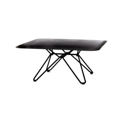 Tio Square Coffee Table Metal 85 x 85 x 38 cm Black Metal
