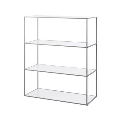 Twin Bookcase large (126,6x98x42 cm) grey grey