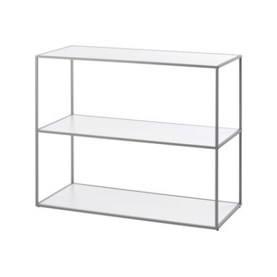 Twin Bookcase small (82.8x98x42 cm) grey grey