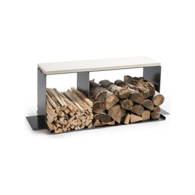 wineTee® wood log holder L | bench by lebenszubehoer by stef's