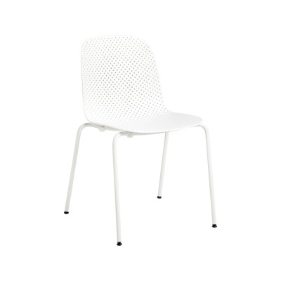 13Eighty Dining Chair Chalk White Shell, Grey White Legs