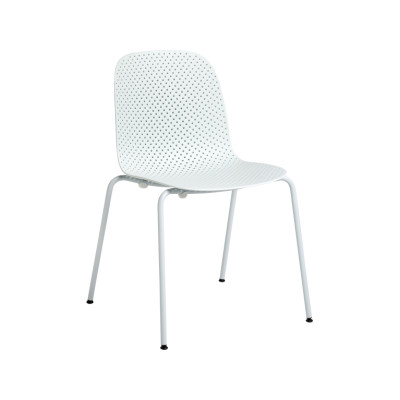 13Eighty Dining Chair Soft Blue Shell, Pure Grey Legs