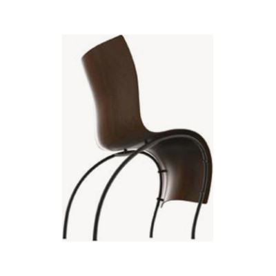 1Skin Dining Chair Beech Dark Brown