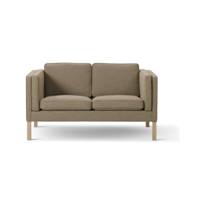 2332 Sofa - 2 Seater Oak Black Lacquered, Nubuck 501 Light sand