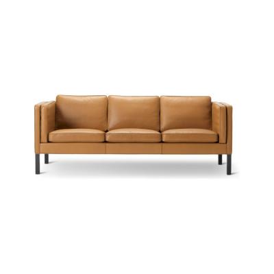 2333 Sofa - 3 Seater Oak Black Lacquered, Nubuck 501 Light sand