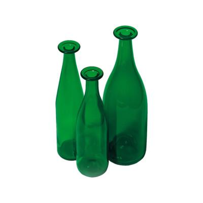 3 Set Green Bottles