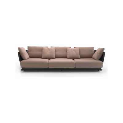 A. Cortese 3 Seater Sofa Steelcut 2 110, White Open Pore Lacquered On Oak