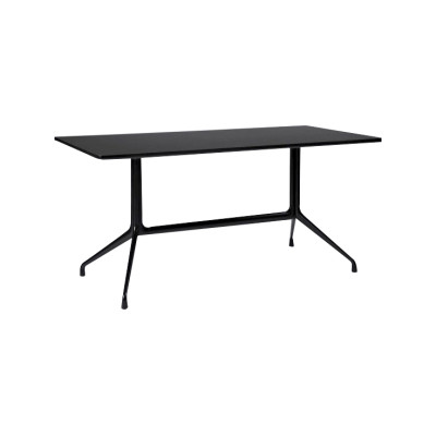 AAT 10 Rectangular Dining Table Frame Finish Same as tabletop, 180 x 90, Black Tabletop
