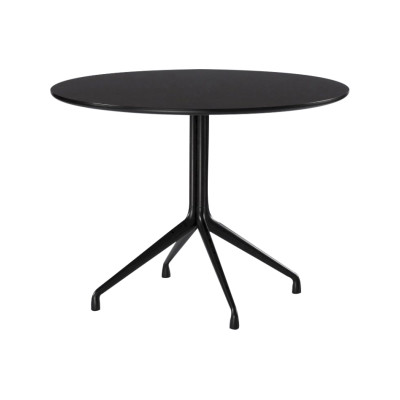 AAT 20 Round Dining Table Black Finish, 100 Diameter, Black Tabletop