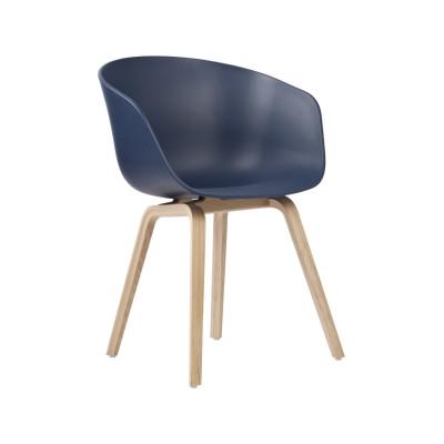 About A Chair AAC22 Grey Seat, Matt Lacquered Oak Bsse