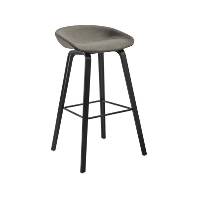 About A Stool AAS33 High Stool, Black Stained Legs Divina Melange 2 120