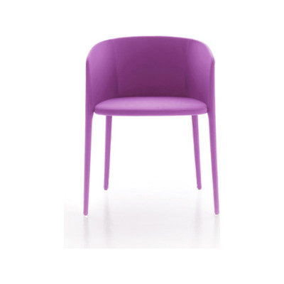 Achille Armchair, Upholstered Pelle_albicocca_R801
