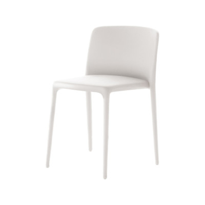 Achille Dining Chair, Upholstered Pelle_albicocca_R801